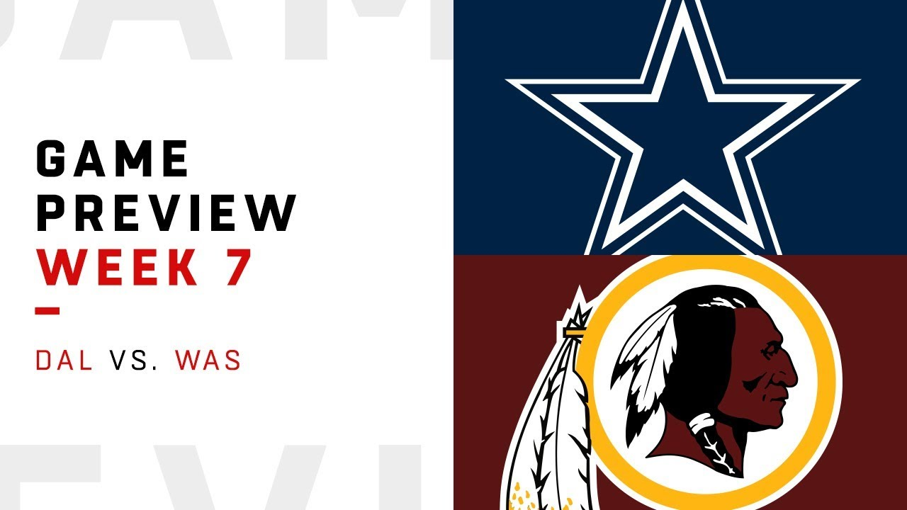 Washington Redskins vs. Dallas Cowboys | Week 7 Game Preview | NFL Playbook