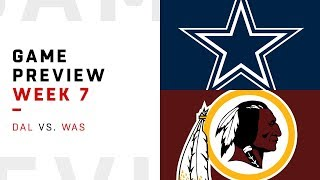 Washington Redskins vs. Dallas Cowboys | Week 7 Game Preview | NFL Playbook
