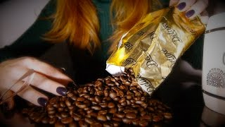Coffee Beans Means ASMR 💜 Relaxing Wood, Crinkles & Tapping sounds