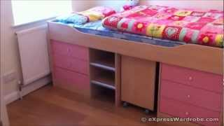 Argos Kids Sleeper Storage Bed With Study Desk - Malibu