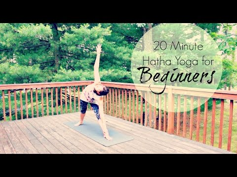 20 Minute Hatha Yoga for Beginners | Gentle Beginners Yoga | ChriskaYoga