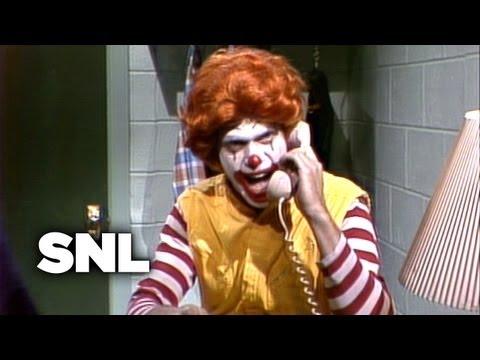 Angry Ronald McDonald - Saturday Night Live