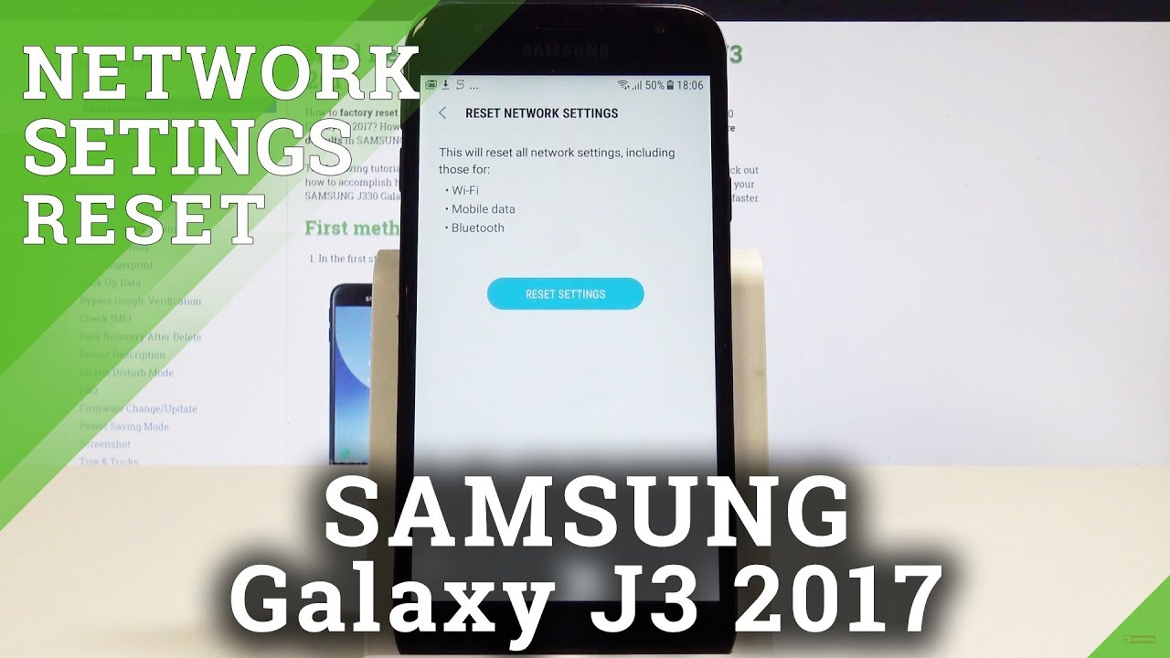 How to Fix Network Settings in SAMSUNG Galaxy J3 2017 - Reset Network  Settings Solution