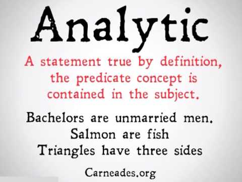 Analytic and Synthetic Distinciton (90 Second Philosophy)