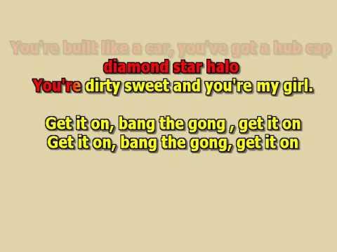 Bang the gong Get it on T.Rex best karaoke instrumental lyrics
