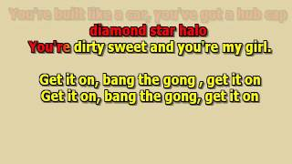 Bang the gong Get it on T.Rex best karaoke instumental lyrics