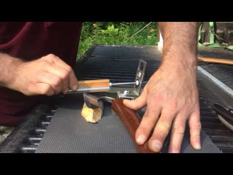 The KME Axe Sharpening System - How To Put A Razor Sharp Convexed Edge On Your Axes