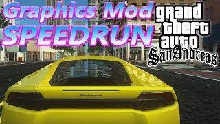 GTA San Andreas 2018 Graphics Mod FULL GAME Speedrun | DirectX 2.0