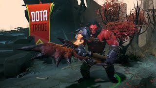 Battleaxe of the Basilisk Axe custom particles preview Dota 2