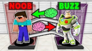 Minecraft Battle NOOB vs BUZZ LIGHTYEAR BRAIN EXCHANGE! NOOB BECAME TOY STORY in Minecraft Animation