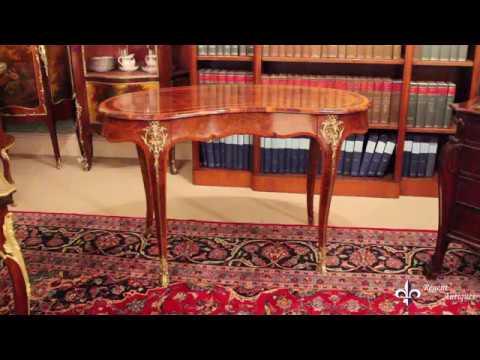 Antique Kidney Writing Table Desk Bureau Plat by Gillow