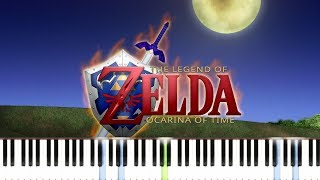 Zelda - Ocarina of Time (N64) - Zelda's Theme [Easy Piano Tutorial] // Synthesia