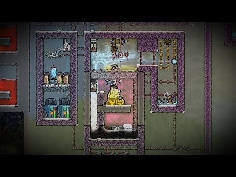 Automatic Gold Volcano Mining! Oxygen Not Included