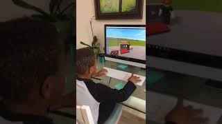 Elijah playing Roblox