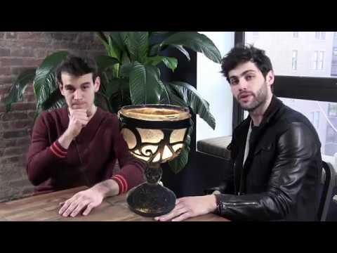 """Matthew and Alberto """"like, reblog or block"""" Tumblr hq"""