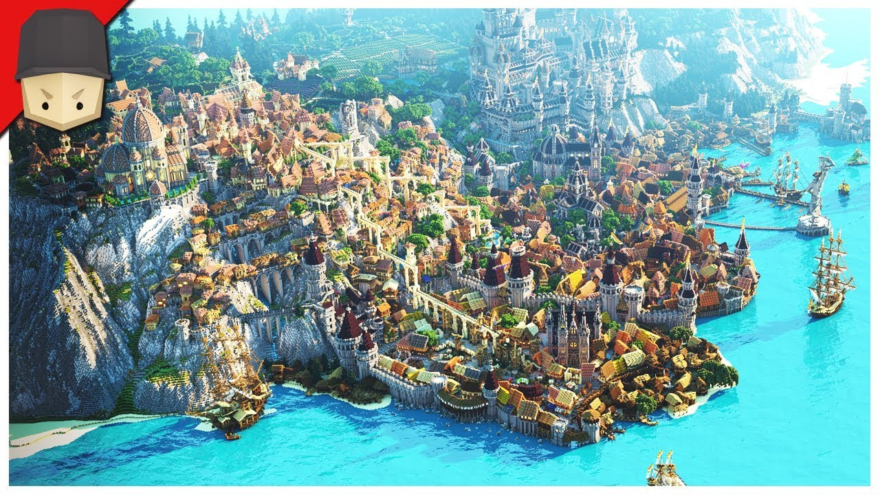 Minecraft - EPIC MEDIEVAL CITY! (Map Download) - YouTube