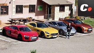 Porsche 911 Turbo S vs Mercedes-AMG GT S, Audi R8, Nissan GT-R   Comparativa   Prueba   coches.net