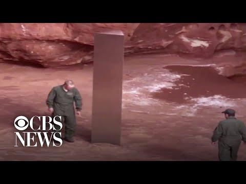Mysterious monolith found in Utah desert