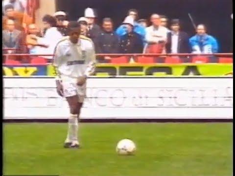 La punizione pazzesca di TINO ASPRILLA che mise fine al RECORD del MILAN di 58 partite senza perdere
