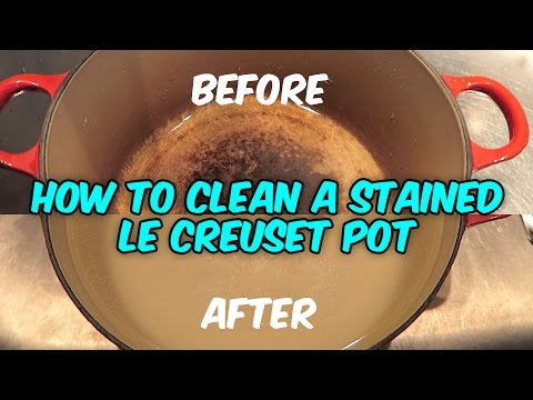 Generate How To Clean A Stained Le Creuset Pot With Bleach And Water Pictures