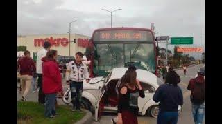 """""""El transmilenio se viene sobre mí"""": conductor narra cómo ocurrió accidente en autopista Sur"""