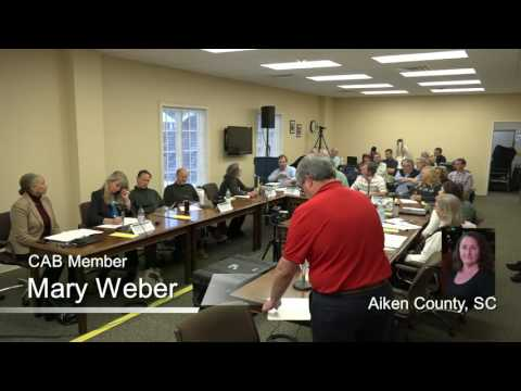 SRS CAB December 6 NM/WM Committee Meetings