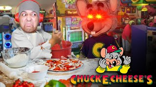 CHUCK GOT ME MAKING PIZZA'S OR IM RIP!! [CHUCK E. CHEESE]