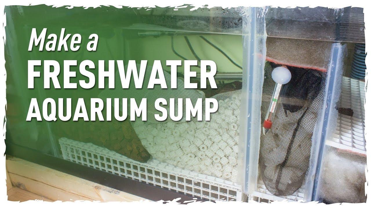 make a freshwater aquarium sump 150g redo pt 1 youtube