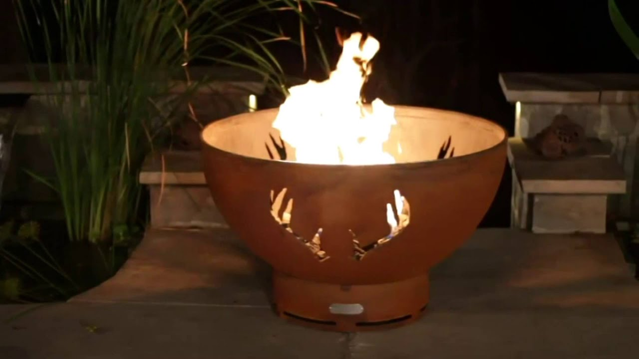 TheFirePitStore.com - Fire Pit Art Antlers Natural Gas or ...