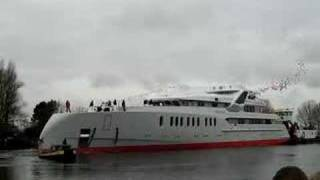 Het 72 meter lange mega Yacht  'Predator'