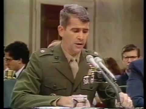 Iran-Contra Hearings Day 24  Oliver North Testimony Part 1