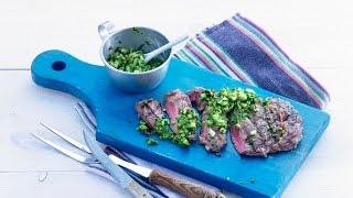 Grilled Rib Eye Steak With Chimichurri Sauce – Savory