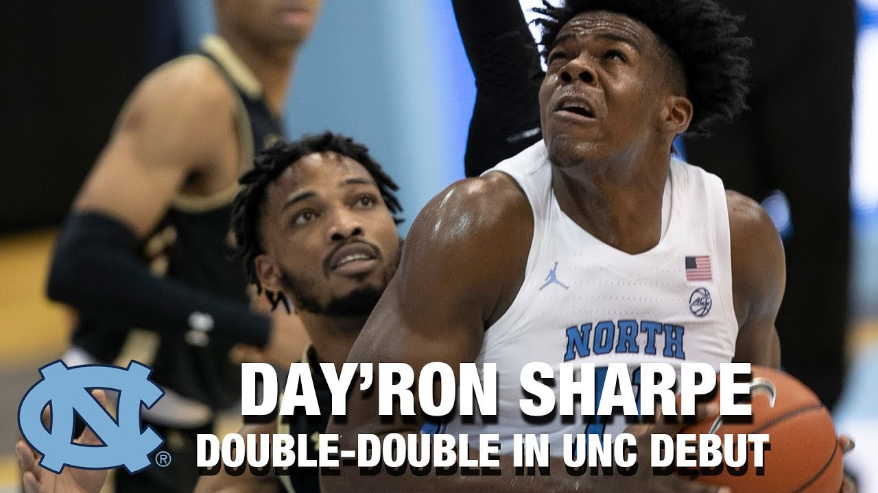 Video: Day'Ron Sharpe Records Double-Double In UNC Debut