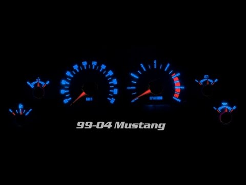 99-04 Mustang Gauge LED And Film Color Change