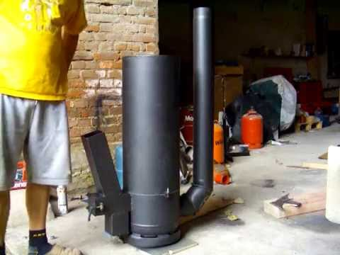 rocket stove finished german raketenofen endlich fertig youtube. Black Bedroom Furniture Sets. Home Design Ideas