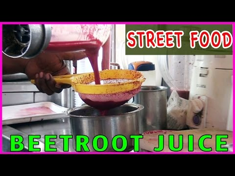 How to Make Beetroot Juice Recipe ? || Indian Street Foods - Tasty Juice Recipes