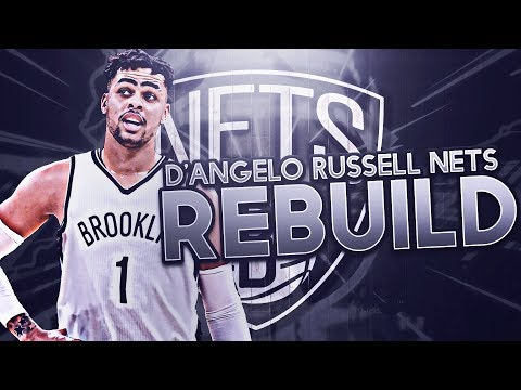 6 90 OVERALLS?! D'ANGELO RUSSELL NETS REBUILD!! NBA 2K17