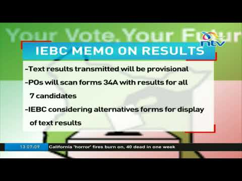 IEBC forced to alter results transmission system after court ruling