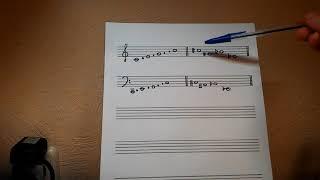 Сольфеджио. Урок 1. Изучение нот. Скрипичный ключ. Басовый ключ. Диез. Бемоль.