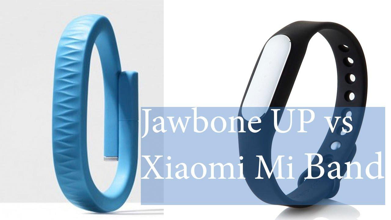 Сравнение mi band и jawbone