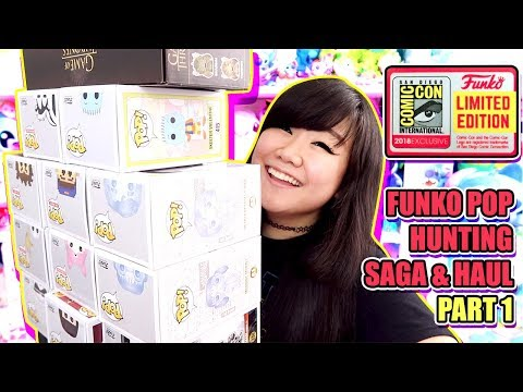 SDCC 2018 Limited Exclusive Funko Pop Hunting Saga & Haul Part 1 - Harry Potter, Disney & MORE!