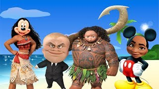 Wrong Hairs Baby, Face Swap Moana Maui Baby Boss Mickey Mouse Finger family song Nursery Rhymes