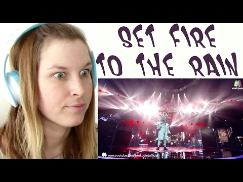 THE MASK SINGER - SET FIRE TO THE RAIN | REACTION