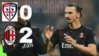 cagliari vs ac milan 0 2 all goll higlight#seriAtime