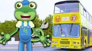 Gecko's Real Vehicles - Trucks, Buses, Excavators, Diggers | Trucks For Kids | Kids Videos