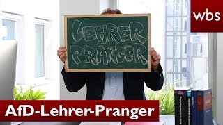 AfD-Lehrer-Pranger ist illegal! RA Solmecke hilft! | Rechtsanwalt Christian Solmecke