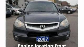 2007 Acura RDX Automatic Tech Package Specs, Info
