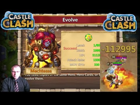 Castle Clash Mechtessa Evolved Game Play POSITIVE MOMENTUM