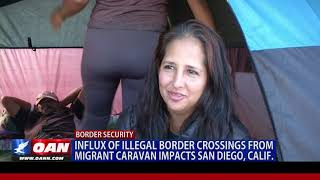 Influx of illegal border crossings from migrant caravan impacts San Diego, Calif