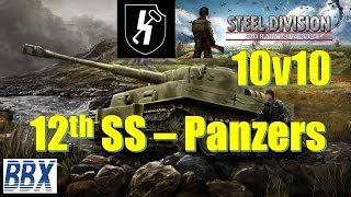 Steel Division | Normandy 44 | SS-Panzers | 10v10 Multiplayer